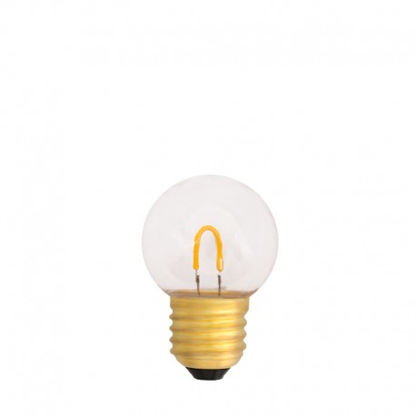 Festoon Light Bulb LED 45mm 1W transparent, warm light